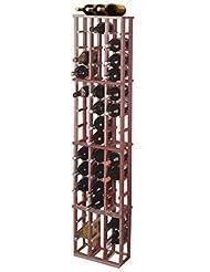 Designer 1 Column Magnum Wine Rack Premium Redwood Dark Walnut Stain