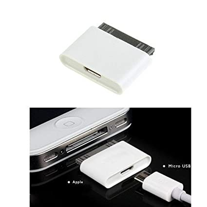 Micro USB a 30 Pines Hembra/Macho Adaptador de Cargador para Apple iPhone 4S/iPad/iPod