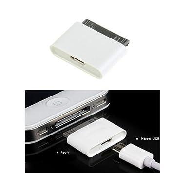Micro USB a 30 Pines Hembra/Macho Adaptador de Cargador para Apple iPhone 4S/iPad/iPod