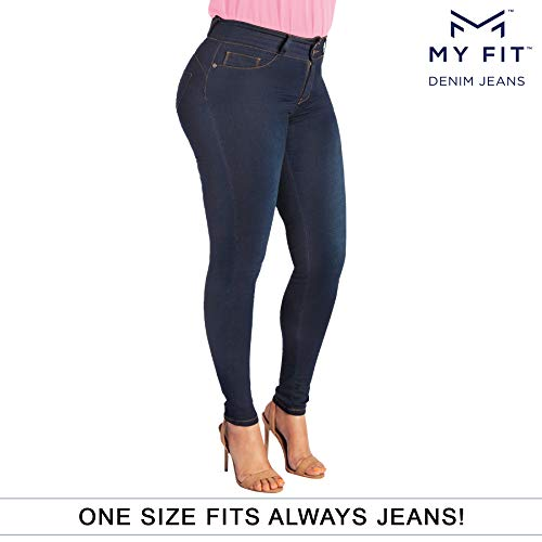 (My Fit Jeans SIZE 14-20 DARK WASH Women's Stretch Denim)