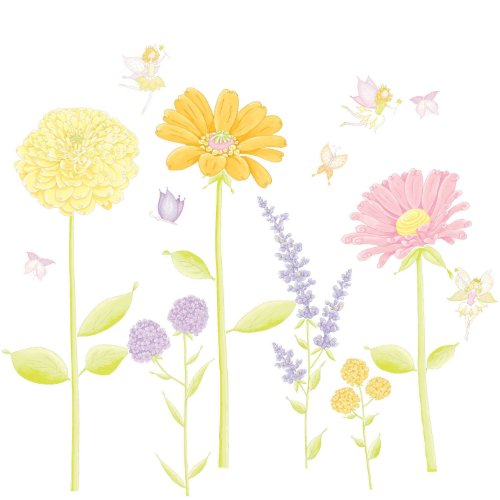 Giant Flower and Fairy Garden wall sticker