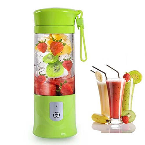 Juicer Cup,Travel Personal USB Mixer Portable Juice Blender with 14.3oz/420ml Updated 6 Blades and More Powerful Motor , 4400mAh Rechargeable Battery Electric Fruit Mixing Multi-Function Machine Juice