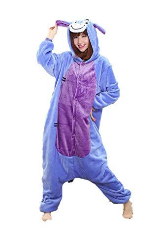Pink Unicorn Sets Flannel Animal Pajamas Winter Nightie Stitch for Women Men Adults Pigama Halloween Eeyore Donkey XL