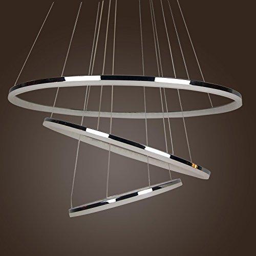 LightInTheBox Three Ring Modern Simple Design Mini LED Pendant Living Ceiling Light Fixture Chandelier Yellow
