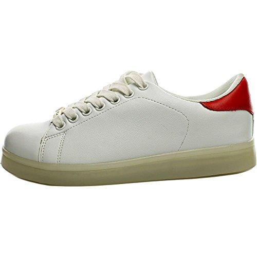 Bebe Sport Kenedy Donne Sneakers Bianche Sintetiche Moda Wtrfx