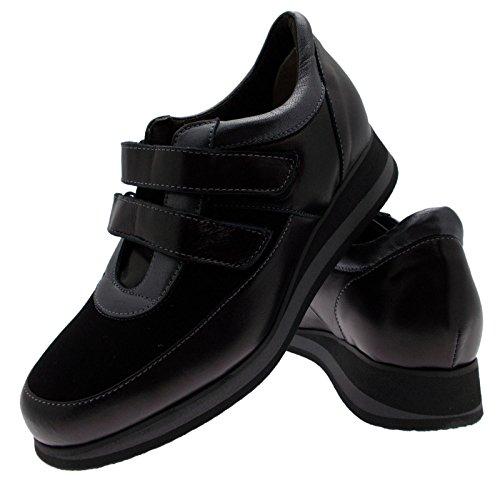 élastique L8098 Article Conçue Semelle de Chaussure Velcro Noir vPSwqAx6