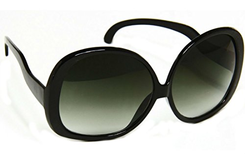Women's Designer Style Vintage Oversized Sunglasses-Assorted Brands (XL Black (Big Designer Sunglasses)