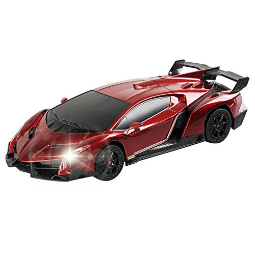 QUN XING RC CAR, Compatible with Lamborghini Veneno Radio Remote Control Vehicle Sport Racing Hobby Grade Licensed Model Car 1:24 Scale for Kids Adults