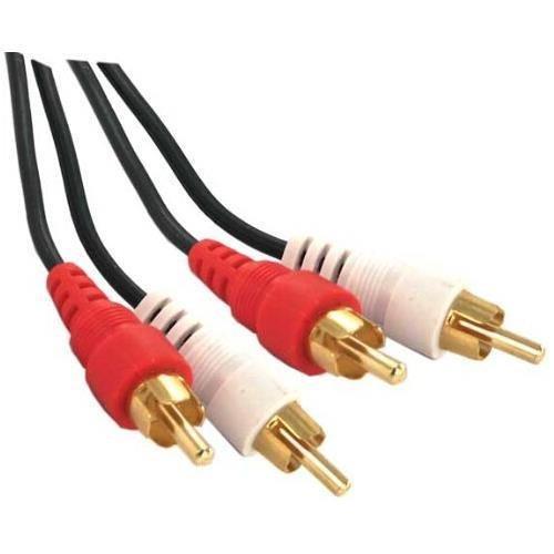 (6ft 2 RCA Plug(Male) to 2 RCA Plug (Male) Dubbing Cable - Black)