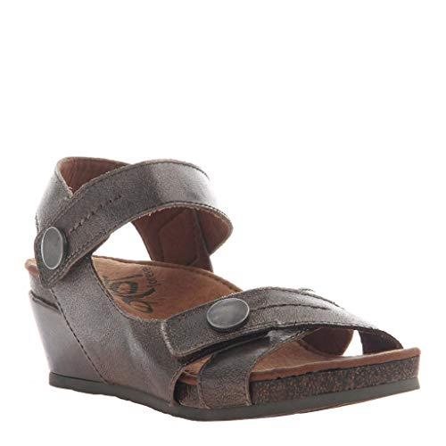 OTBT Women's Sandey Wedge Sandals - Gunmetal - 11 W ()