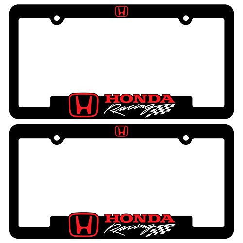 Custom Car Gear (2) Honda Racing License Plate Frames Motorsports Rally 3D Letter Frame Brackets ()