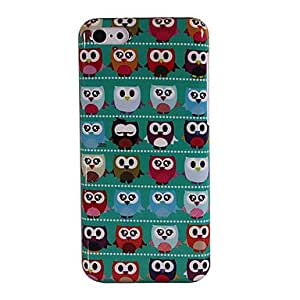 Buy Cute Cartoon Owls In Line Pattern Transparent Frame Hard Case for iPhone 5C
