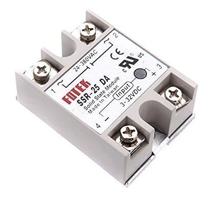 Frentaly Output 24V-380V 25A SSR-25 DA DC-DC Solidstate Solid State Relay  for Arduino Raspberry Pi
