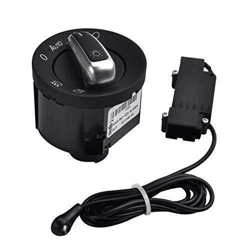 ZREAL Auto Lichtschalter mit Chrome Auto Sensor Licht 5ND941431B