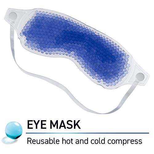 TheraPearl Color Changing Eye Mask, Eye-ssential Mask with Flexible Gel Beads for Hot Cold Therapy, Cold Eye Mask for Puffy and Swollen Eyes, Relaxation, Headaches, and Allergies