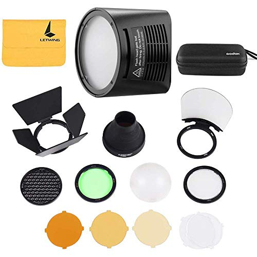 Godox H200R Ring Flash Head for Godox AD200 and Godox AD200Pro Pocket Flash Light,Godox AK-R1 Accessories Kit for Godox H200R Round Flash Head - Flash Head Kit