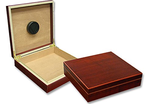Prestige Import Group - The Chateau Small Humidor - Capacity: 20 Cigars - Color: Cherry