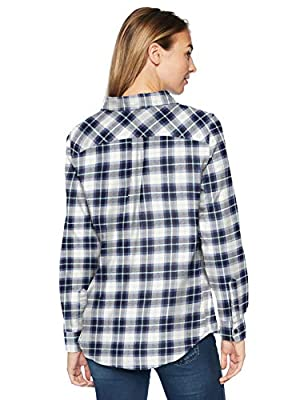 Amazon Essentials Women's Long-Sleeve Classic-Fit Lightweight Plaid Flannel Shirt