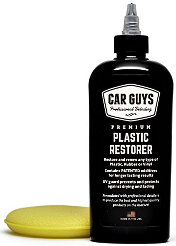 CarGuys Plastic Restorer - The Ultimate Solution for Bringing Rubber, Vinyl and Plastic Back to Life! - 8 oz Kit (Best Car Wax For Faded Paint)