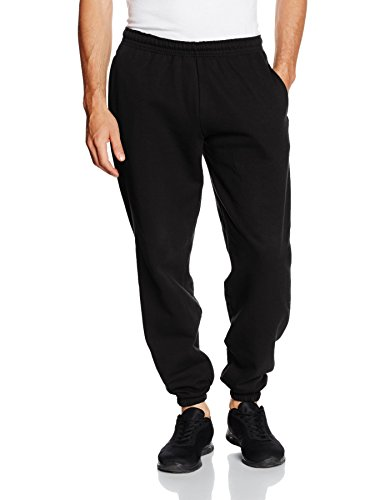 Fruit Of The Loom Mens Elasticated Cuff Jog Pants/Jogging Bottoms (2XL) (Fruit Of The Loom Cotton Sweatpants)
