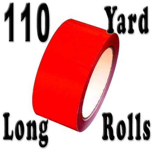 "Carton Sealing Tape 2"" x 110 yds 2 mils, several colors, Red"