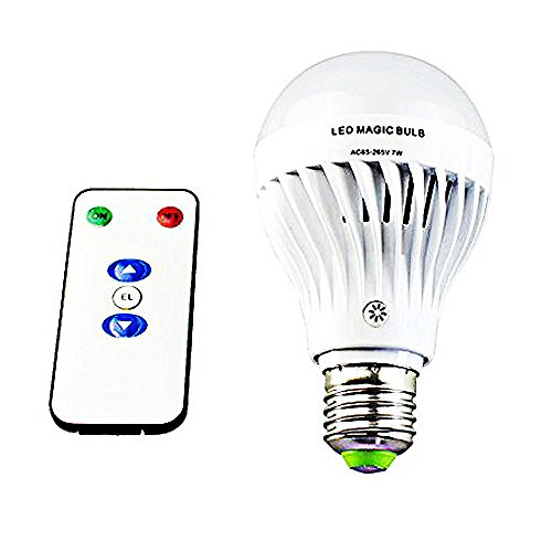 Bsod AC 85-265V 7W LED Magic bulb with remote controller White Emergency Light with Rechargeable Built-in Battery E27 Lamp for Home Indoor Lighting