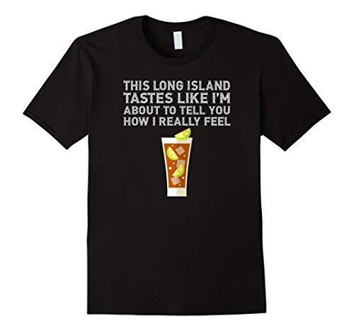 Mens This Long Island Iced Tea Tastes Drink Alcohol Cocktail Tee Xl Black