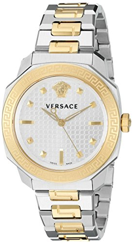Versace Women's VQD050015 Dylos Analog Display Swiss Quartz Two Tone Watch