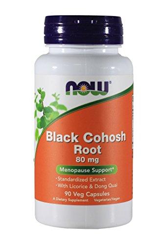 Now Foods Black Cohosh Root 80 mg – 90 VegiCaps 4 Pack