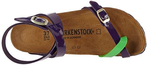 Birkenstock Yara Birko-Flor, Chanclas para Mujer Mehrfarbig (Tropical Lilac Green Lack)