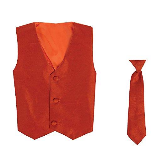 Orange Silk Boys Ties - 5