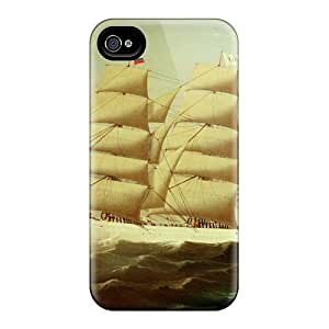 For Iphone 4/4s Tpu Phone Case Cover(tall Ship)