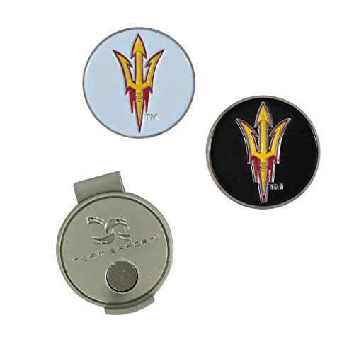 NCAA Arizona State Sun Devils Hat Clip and 2 Golf Ball Markers ()