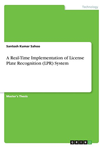 A Real-Time Implementation of License Plate Recognition (Lpr) (Lpr License Plate)