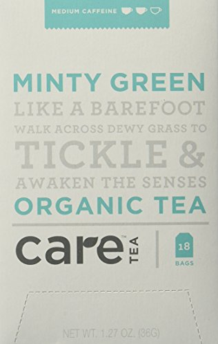 Minty Green - Care Tea, Minty Green, 18 Count (Pack of 6)