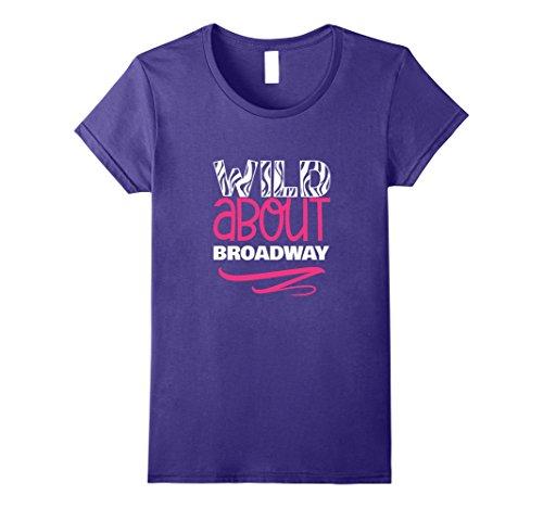 Womens NYC Souvenir Wild About Broadway Theater New York T-shirt Medium - Fashion Shop Broadway Nyc