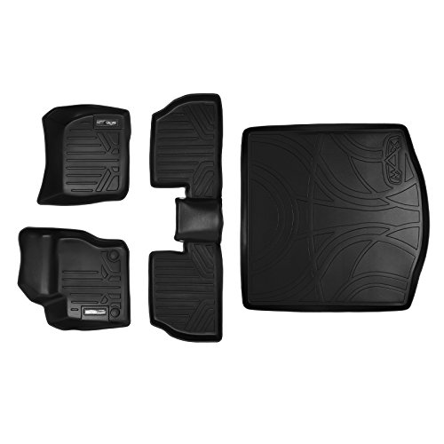 Ford Focus Cargo Liner (MAXFLOORMAT Floor Mats and MAXTRAY Cargo Liner Set Black for 2012-2018 Ford Focus Sedan (No RS or Electric Models))