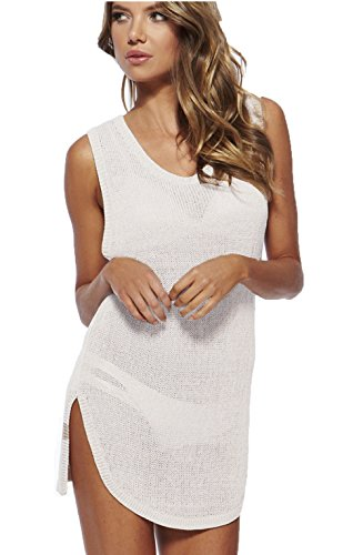 Wander Ago Beach Club Perspective Cover Shirt Bikini Cover-up Net Milky White