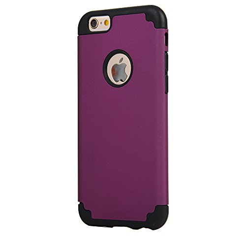 iPhone 6/6s Plus Case, iBarbe Slim fit Hybrid Soft Rubber PC Shockproof cover Case with Heavy Duty Protection Dual Layer Scratch Resistant Bumper for Apple iPhone 6 6s Plus (5.5 - Power Ban