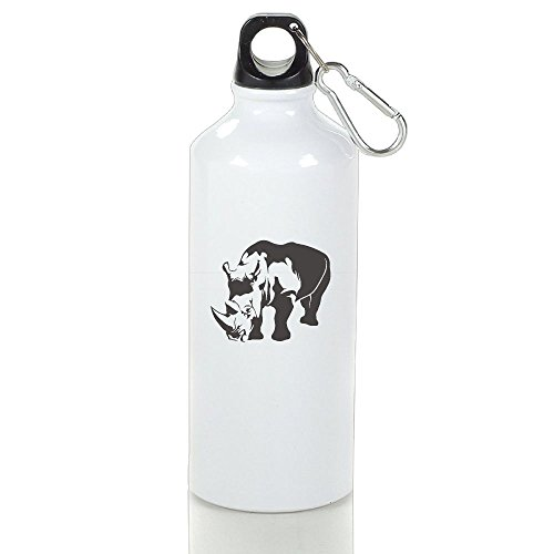 SHyundsb BPA Free Aluminum Clipart Of Rhino Sport Water Bottle. Eco Friendly, Sweat Proof Bottle, Great For Outdoor And Sport Activities