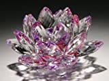 1 X 5'' Purple Color Delicate Decorative Crystal Lotus Flower by HP