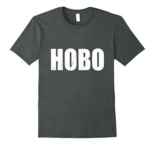 Mens Hobo T Shirt Halloween Costume Funny Retro Distressed Small Dark (Halloween Hobo Costume)