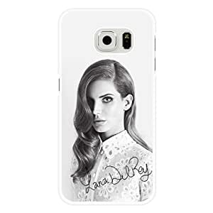 Galaxy S6 Case, Customized Lana Del Rey White Hard Shell Samsung Galaxy S6 Case, Lana Del Rey Galaxy S6 Case(Not Fit for Galaxy S6 Edge)