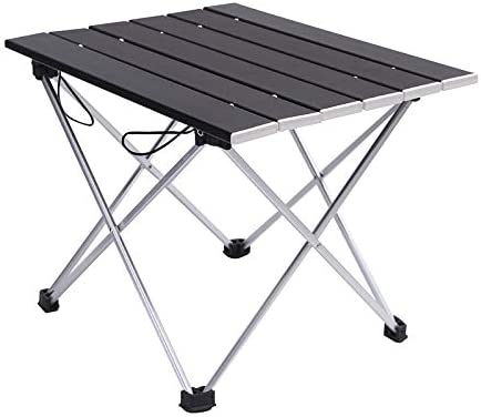 Suitable for Outdoor Aluminum Table Picnic Camping Barbecue Fishing Aluminum Alloy Folding Table Outdoor Portable Folding Camping Table Beach