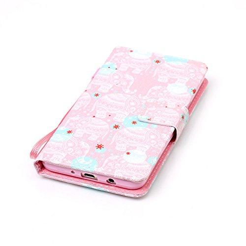 Para Smartphone Samsung Galaxy J5(2016) J510móvil, piel para Samsung Galaxy J5(2016) J510Flip Cover Funda Libro Con Tarjetero Función Atril magnético (+ Polvo Conector) negro 9 10