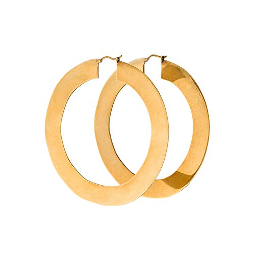 2b7658082ec85 Minimal Bohemian 18K Gold Plated Large Round Hoop Earrings for Women ...