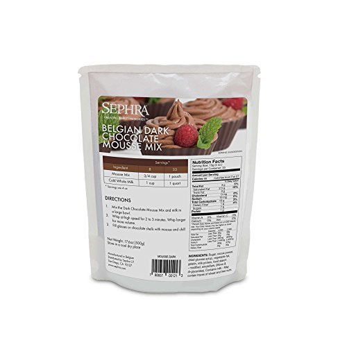 (Sephra Chocolate Mousse Mix - Belgian Dark Chocolate Mousse. Transfat Free. Add Milk Only - Gourmet Desserts - Easy Desserts from Chocolate Mousse)