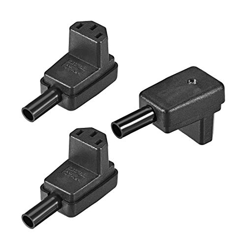 uxcell AC110-250V 10A Female IEC320 C13 Power Socket Adapter Receptacle Connector Right Angle 3 Pcs