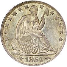 1854 Various Mint Marks liberty seated half dollar Half Dollar good or better