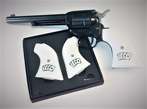 Premium Gun Grips Gambler w/aces Heritage Arms Rough Rider 6 and 9 Shot .22 &.22 Mag Synthetic Aces White -
